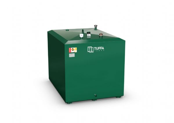 2300  Litre Steel Oil Tank - Steel Bunded